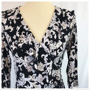 WHBM | Floral Wrap Top